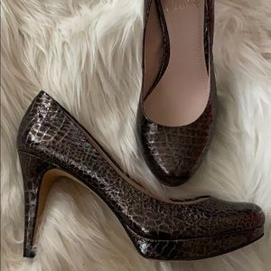 Vince Camuto leather patent animal